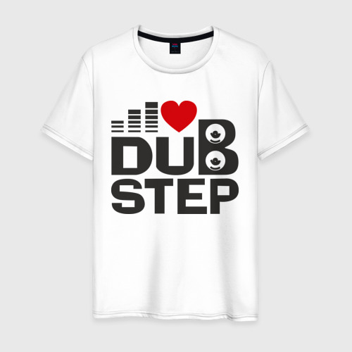 Мужская футболка хлопок Dubstep love