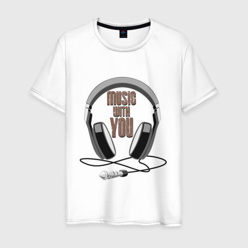 Мужская футболка хлопок Music with you