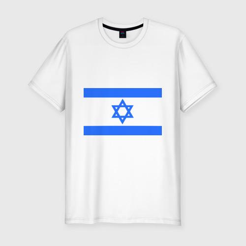 Мужская футболка хлопок Slim Флаг Израиля