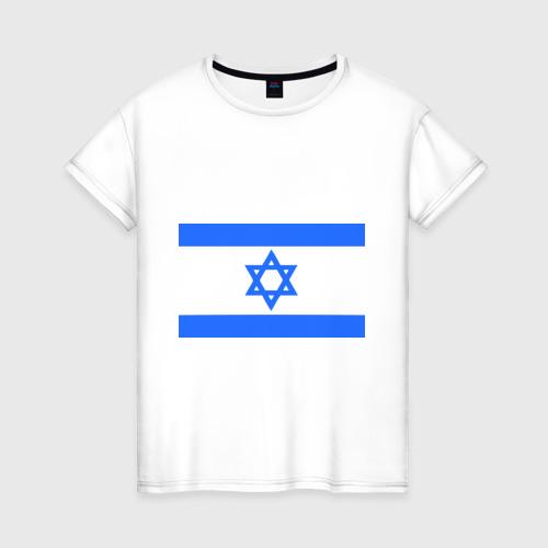 Женская футболка хлопок Флаг Израиля