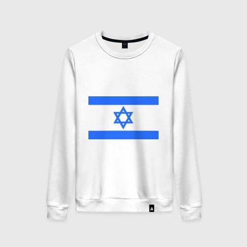 Женский свитшот хлопок Флаг Израиля