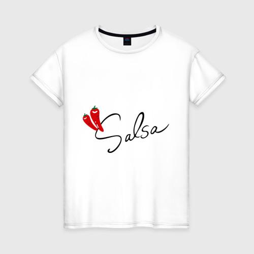 Женская футболка хлопок Сальса чили