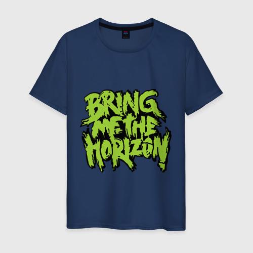 Мужская футболка хлопок Bring me the horizon green