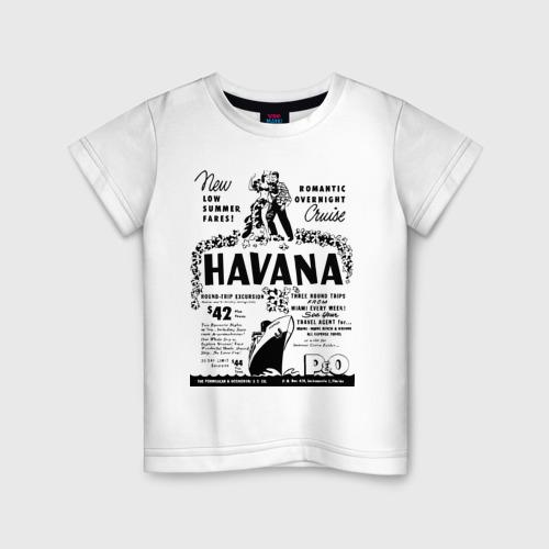 Детская футболка хлопок Куба афиша