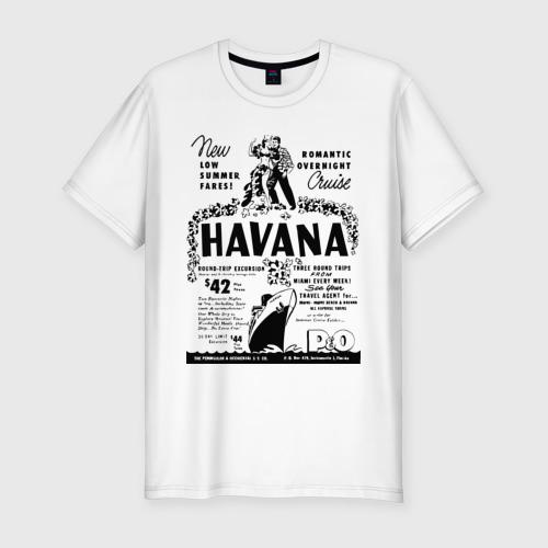 Мужская футболка хлопок Slim Куба афиша