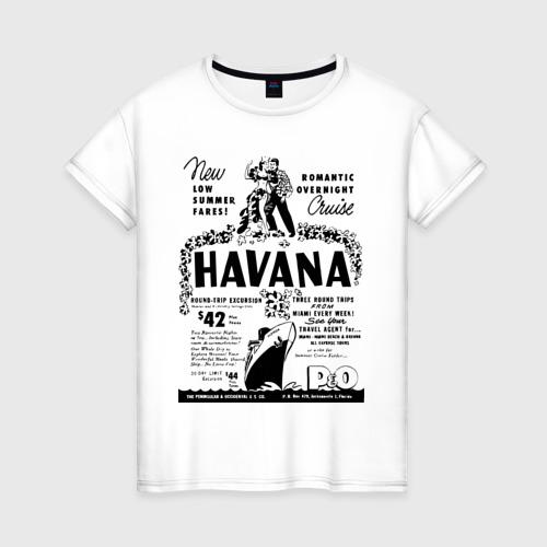 Женская футболка хлопок Куба афиша