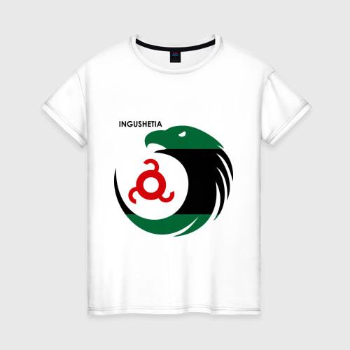 Женская футболка хлопок Ингушетия орел