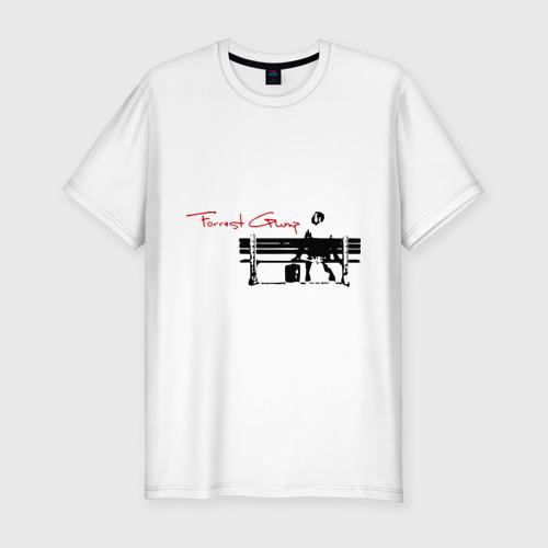 Мужская футболка хлопок Slim Форест Гамп