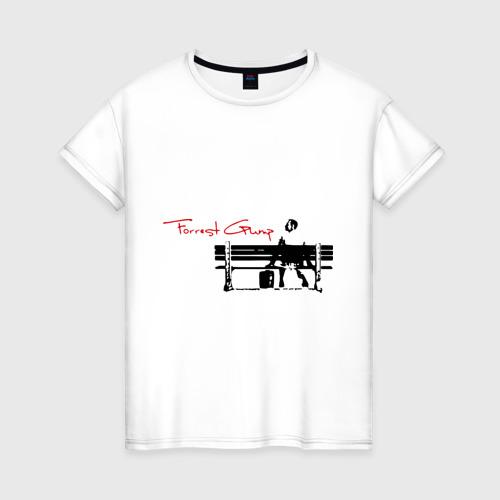Женская футболка хлопок Форест Гамп