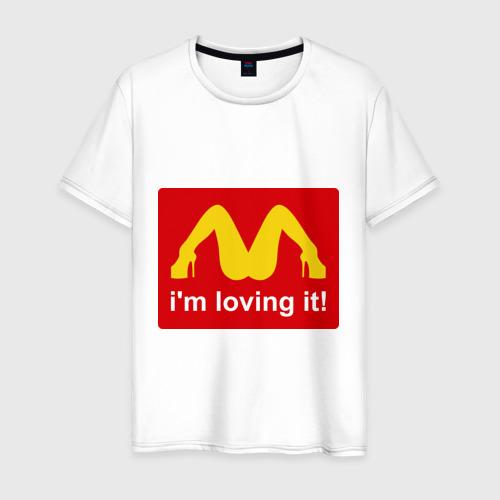 Мужская футболка хлопок i\'m lovin\' it!