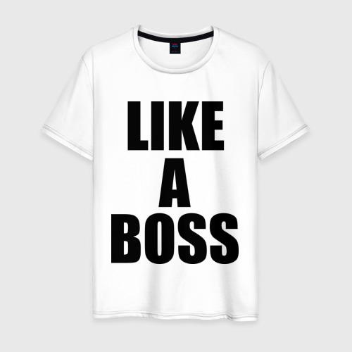 Мужская футболка хлопок как босс