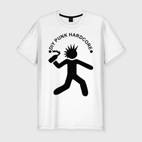 Мужская футболка хлопок Slim DIY punk hardcore