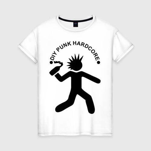 Женская футболка хлопок DIY punk hardcore
