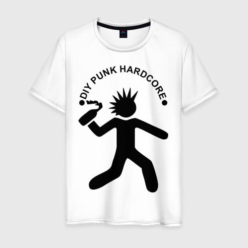 Мужская футболка хлопок DIY punk hardcore