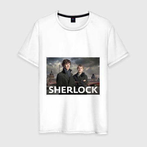 Мужская футболка хлопок Шерлок город