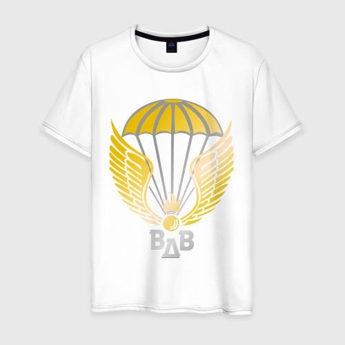 Мужская футболка хлопок Парашют с крыльями