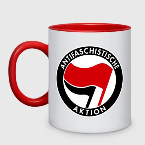 Кружка двухцветная Antifa (1)
