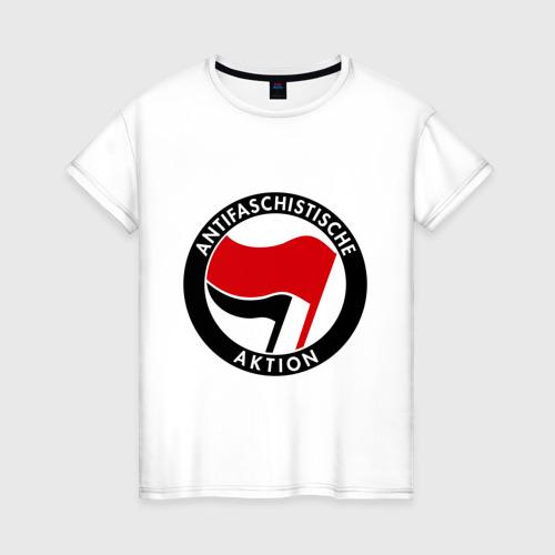 Женская футболка хлопок Antifa (1)