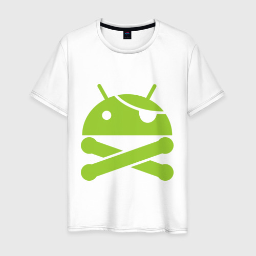 Мужская футболка хлопок Android super user