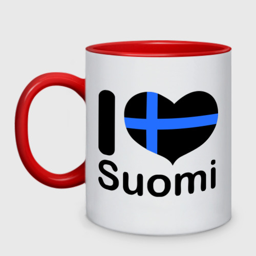 Кружка двухцветная Love Suomi