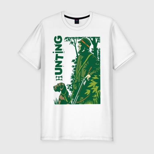 Мужская футболка хлопок Slim Стрелок и собака