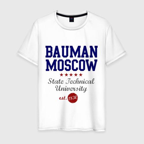 Мужская футболка хлопок МГТУ