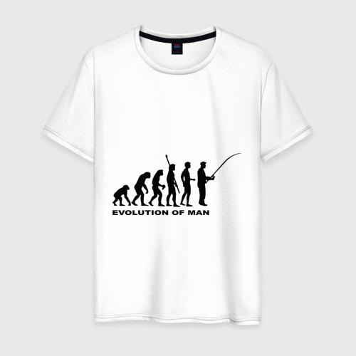 Мужская футболка хлопок Рыбак. Эволюция
