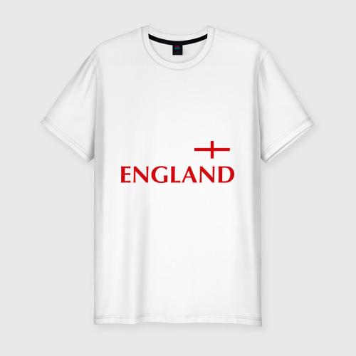 Мужская футболка хлопок Slim Сборная Англии - Стивен Джеррард 4