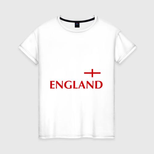 Женская футболка хлопок Сборная Англии - 10