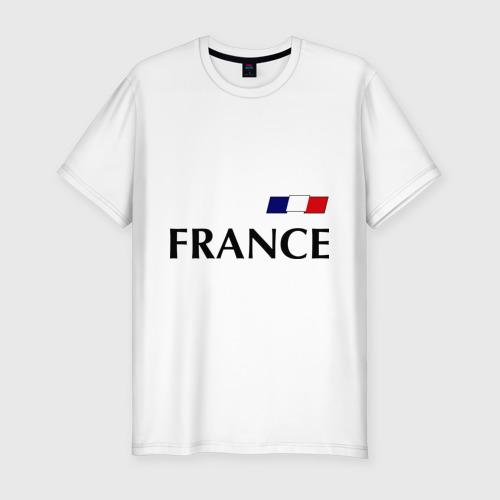 Мужская футболка хлопок Slim Сборная Франции - Бензима 10 (Benzima)