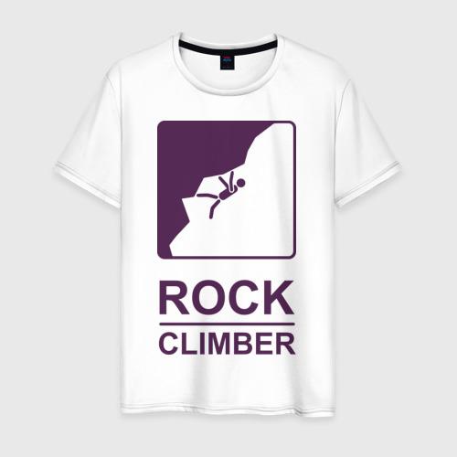 Мужская футболка хлопок Rock climber