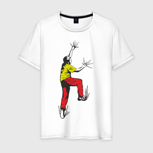 Мужская футболка хлопок Альпинист карабкается