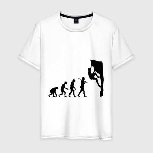 Мужская футболка хлопок Эволюция альпиниста