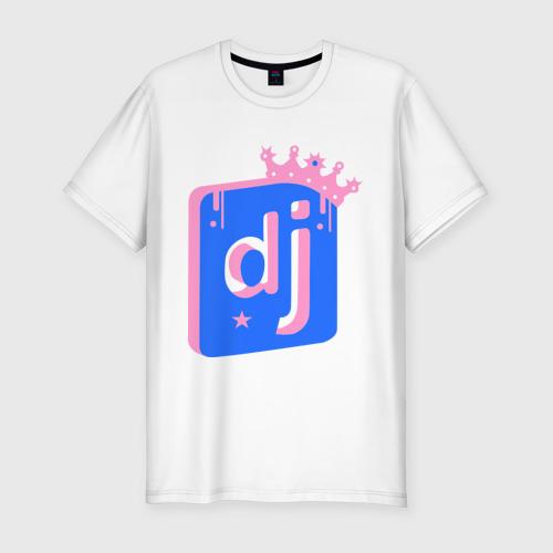 Мужская футболка хлопок Slim Король DJ