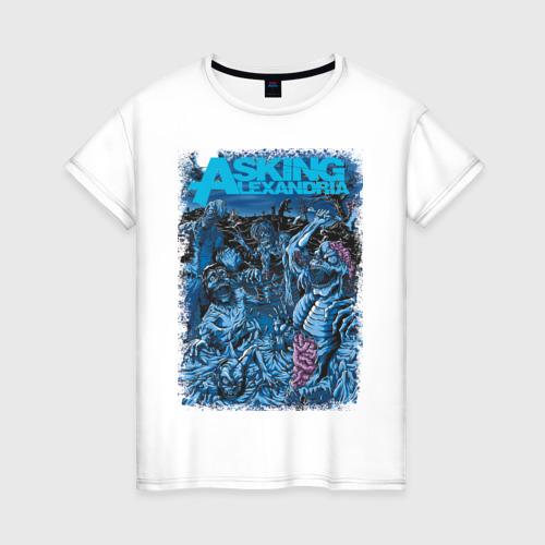Женская футболка хлопок Asking Alexandria зомби