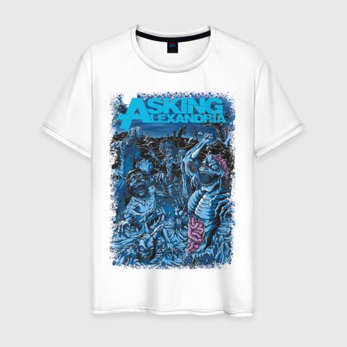 Мужская футболка хлопок Asking Alexandria зомби