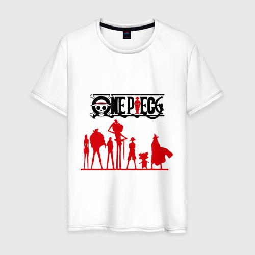 Мужская футболка хлопок персонажи one piec