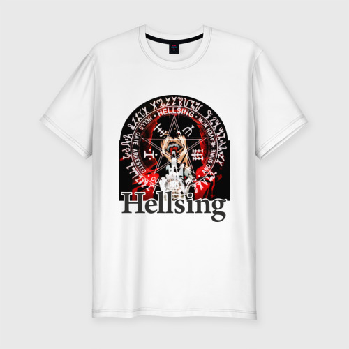 Мужская футболка хлопок Slim Hellsing  символ Алукарда