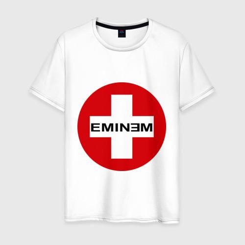 Мужская футболка хлопок Eminem знак