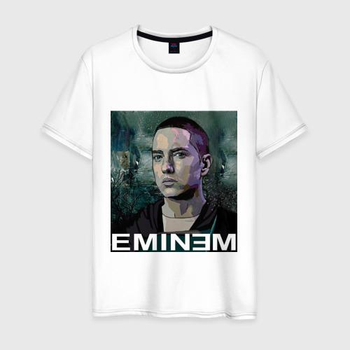 Мужская футболка хлопок постер Eminem