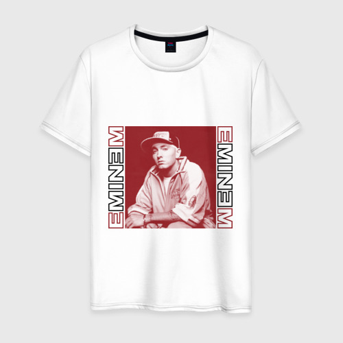 Мужская футболка хлопок Eminem в кепке