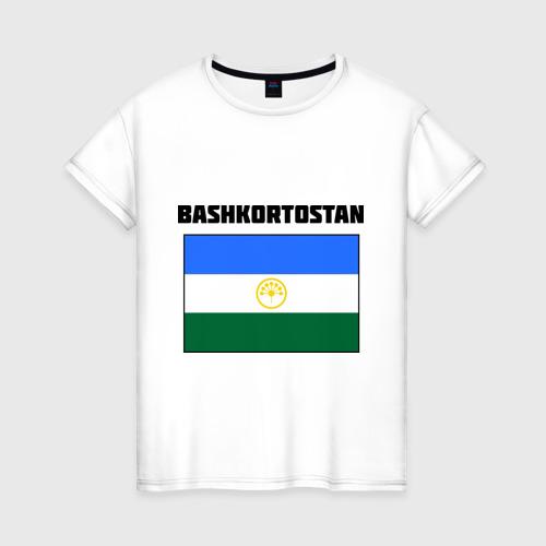 Женская футболка хлопок Bashkortostan flag