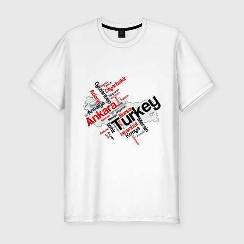 Мужская футболка хлопок Slim Турция (крупные города)