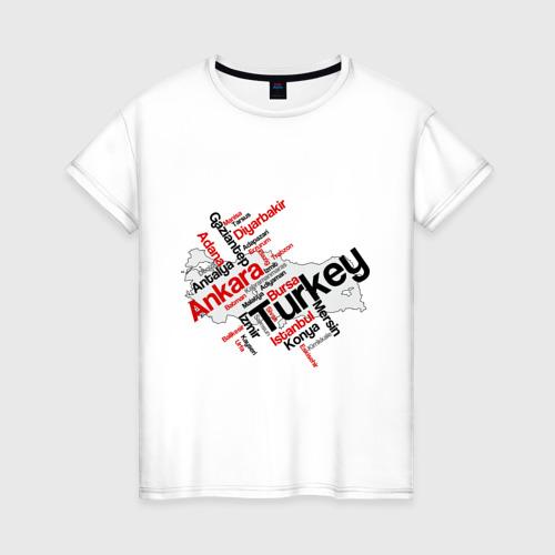 Женская футболка хлопок Турция (крупные города)