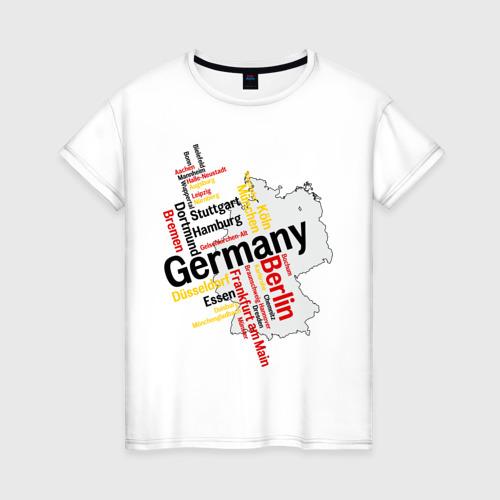 Женская футболка хлопок Германия (крупные города)