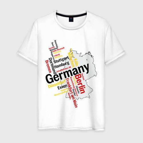Мужская футболка хлопок Германия (крупные города)