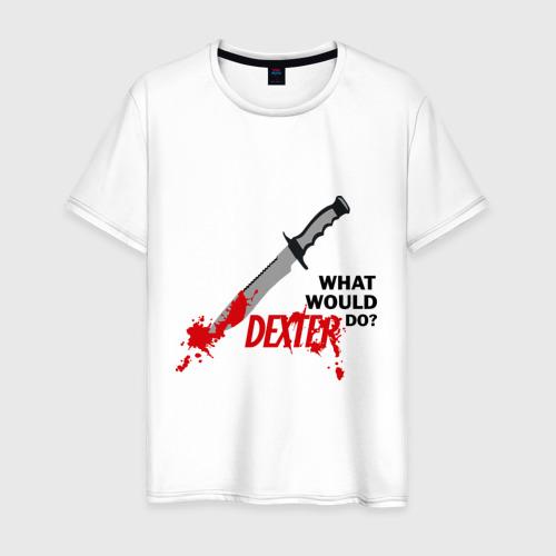 Мужская футболка хлопок what would Dexter do?