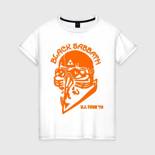 Женская футболка хлопок Black Sabbath