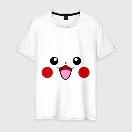 Мужская футболка хлопок Серый Pikachu