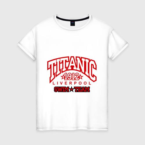 Женская футболка хлопок TITANIC swim team